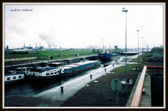 Les escluses de Ijmuiden. Holanda