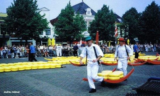 Mercat de formatges d'Alkmaar. Holanda