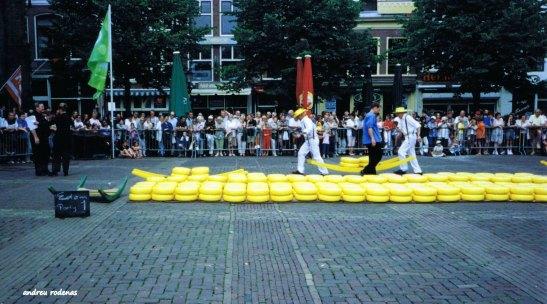 Mercat dels formatges d'Alkmaar. Holanda