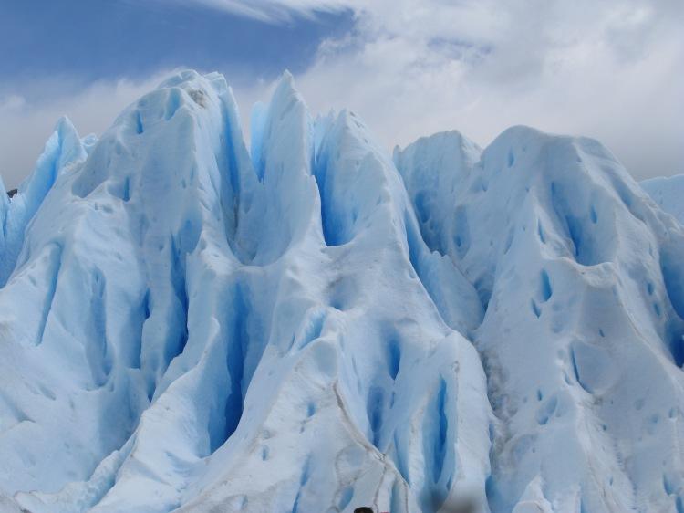 Esquerdes o sèracs damunt el Perito Moreno