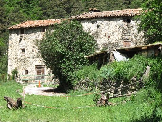 Masia catalana a Fornells de la Muntanya. Girona