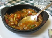 Sopa de verdures a Puerto Natales. Xil.le
