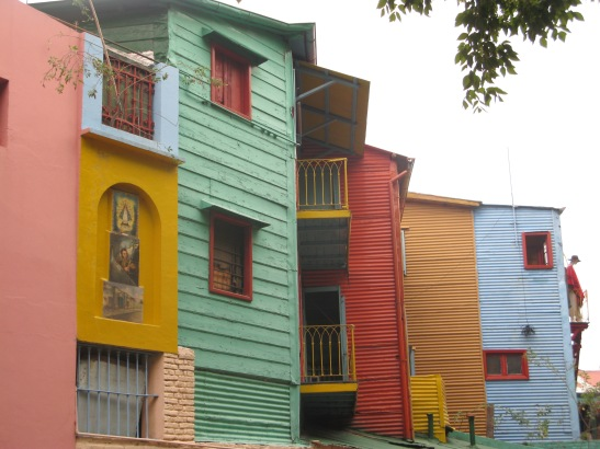Cases pintades al barri de La Boca. Buenos Aires