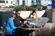 Esmorzant a Kaikoura. Nova Zelanda