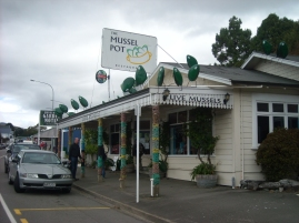 Restaurant tipic de Havelock. Nova Zelanda