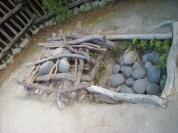 Tipic forn al terra on es cuinava el Hangi. Rotorua.