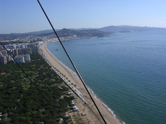 La platja de Lloret de Mar  vista des de l'ultralleuger del meu amic Josep Pallarés qui em va obsequià amb un vol pilotat per ell mateix.