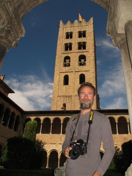 Dins el claustre del monestir de Ripoll