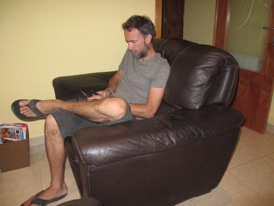 El meu nou amic couchsurfer a casa meva