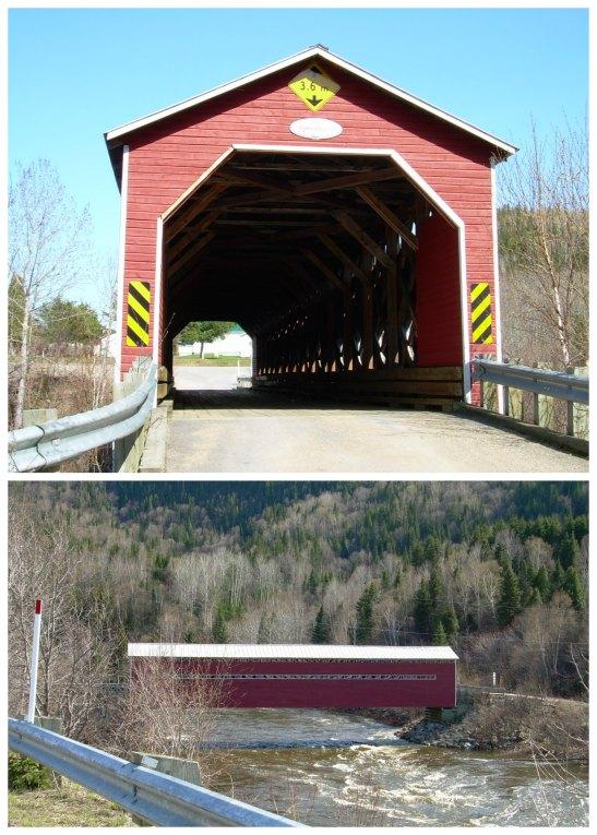 Típic pont de fusta a St. Mathieu du Parc. Quebec