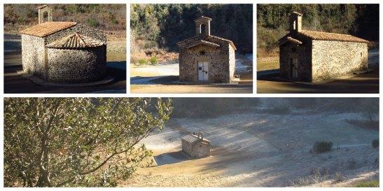 Esglesia de Santa Margarida al volcà del mateix nom. La garrotxa/St. Margarida's Church in the crater of St.Margarida volcanoe. La Garrotxa