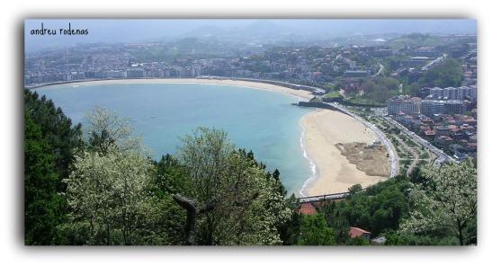 Vista de la platja de la Concha des del Monte Igueldo