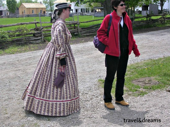Amb un dels personatges de Upper Canada Village / With one of the characters of Upper Canada Village