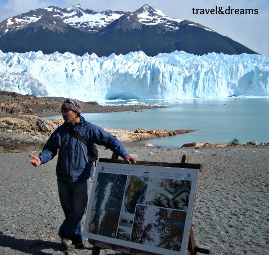 Lliçons de Geologia al Perito Moreno. Argentina / Lessons of geology in Perito Moreno Glacier. argentina