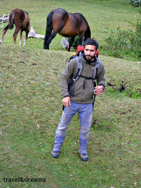 El nostre guia Augusto a l'excursió al Parc Nacional Tierra del Fuego / Our guide Augusto in the trip to Tierra del Fuego National Park