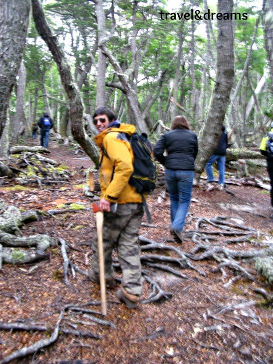 """El """"narigudo"""" era el nostre guia al Lago Fagnano, Tierra del Fuego / """"Narigudo"""" was our local guide in Lago Fagnano, Tierra del Fuego"""