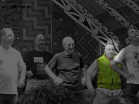 Ballant la Haka a Rotorua. Nova Zelanda / Dancing the Haka in Rotorua. New Zealand