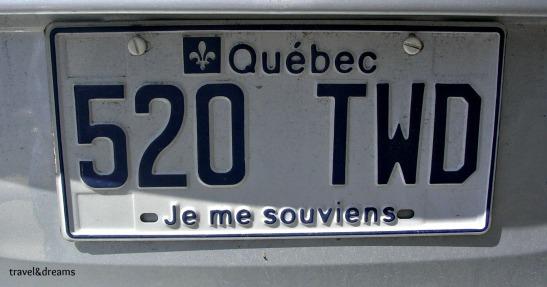 Les plaques de matricula de Quebec amb el lema nacional / The Quebec plates with the national symbol