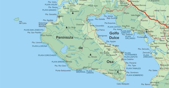 Peninsula de Osa. Costa Rica
