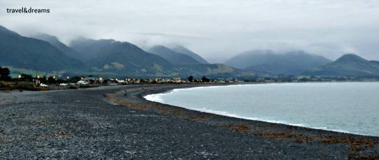 Kaikoura desde la playa