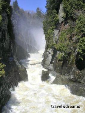 El cañón Sainte Anne des de  baix